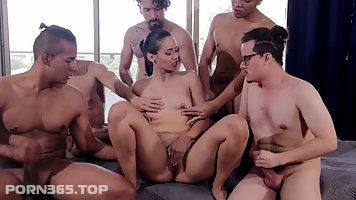 Amaranta Hank and Andreina DLux are having group sex and enjoying every second of it